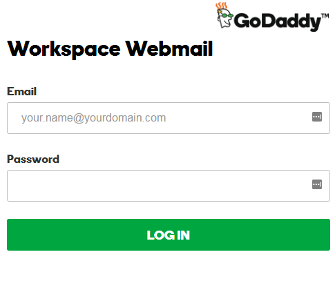 go daddy email login