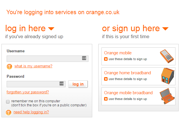 orange mail login