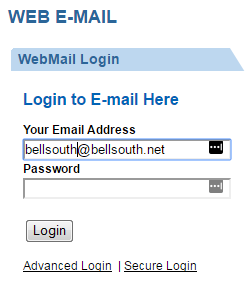 bellsouth webmail login