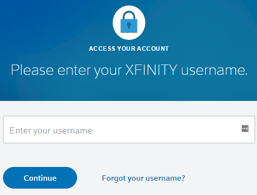 xfinity email reset password