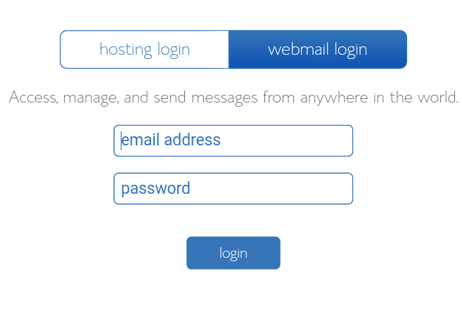 Bluehost webmail login
