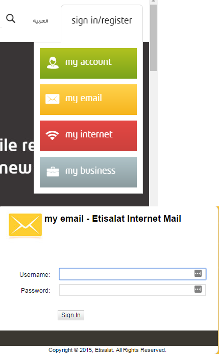 etisalat mail login