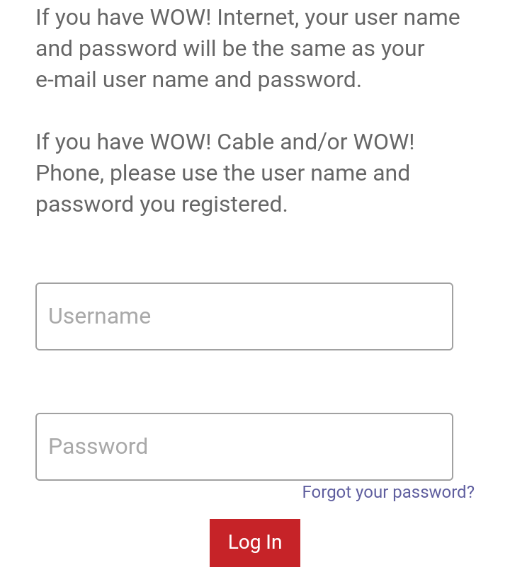 Wowway email login