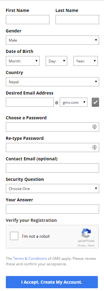 gmx mail sign up